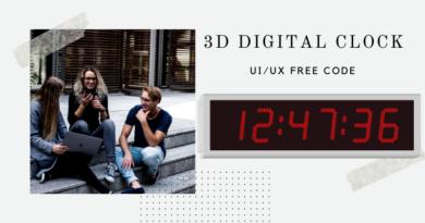 3D Digital Clcok