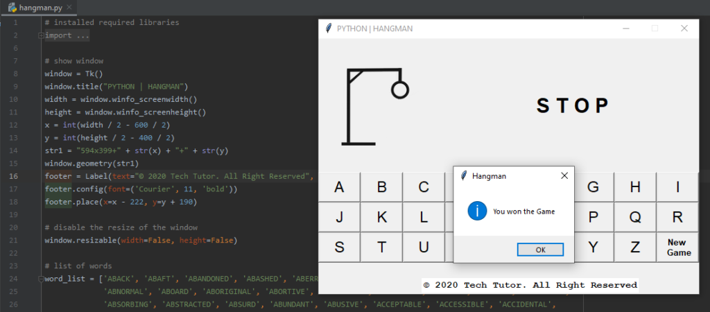 Hangman Python Game - A Step-by-Step Guide.
