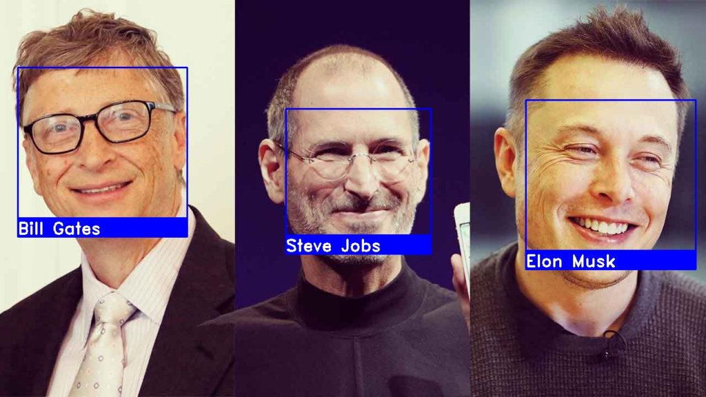 Image of face recognition