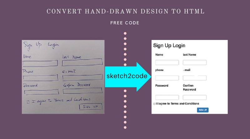 Convert hand-drawn design to HTML