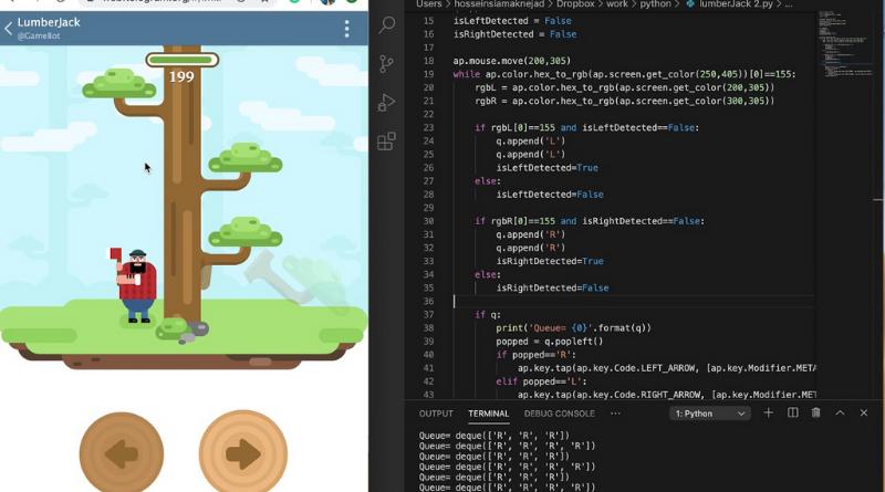 Lumberjack Game using Python