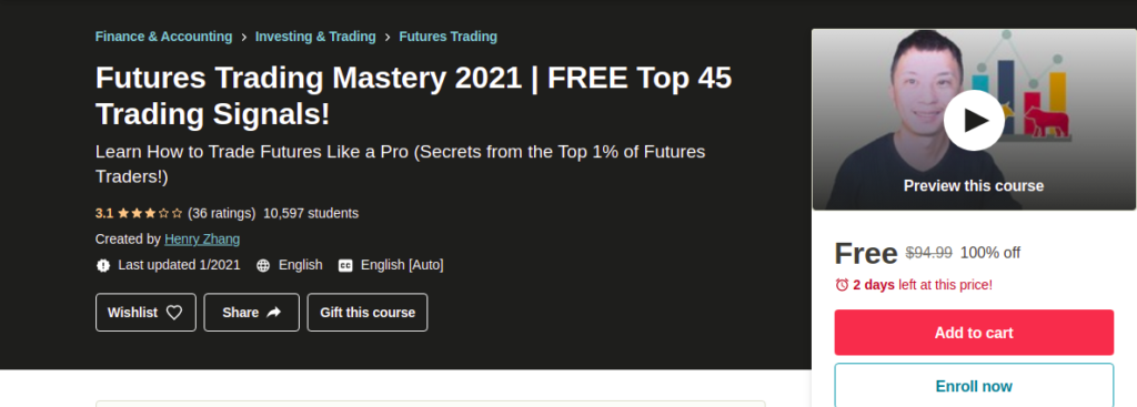Futures Trading Mastery 2021   FREE Top 45 Trading Signals!