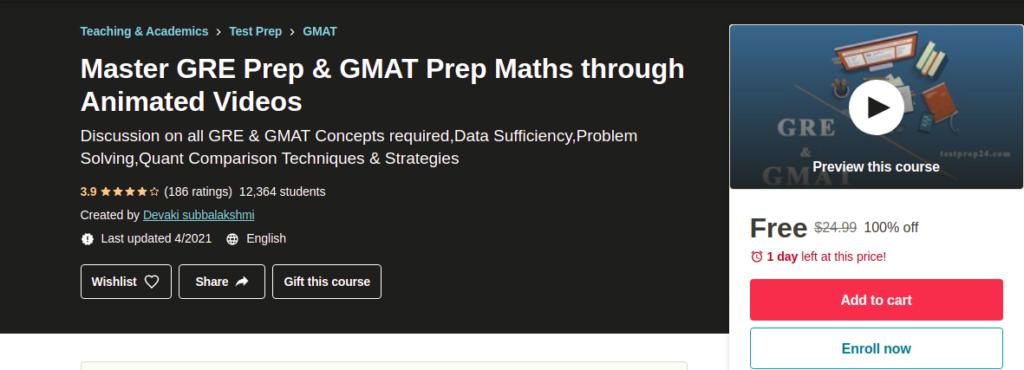 Master GRE Prep & GMAT Prep Maths through Animated Videos