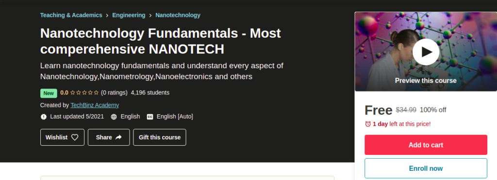 Nanotechnology Fundamentals - Most comperehensive NANOTECH