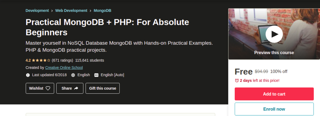 Practical MongoDB + PHP: For Absolute Beginners